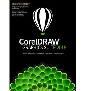 COREL DRAW GRAPHIC SUITE 2018 WITH DVD RETAIL BOX PACK Coral Draw